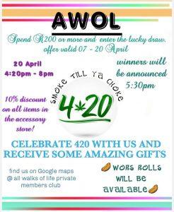 Smoke Till Ya Choke: 420 @ AWOL @ AWOL